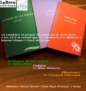 Lectura a Berga 18/12/2010